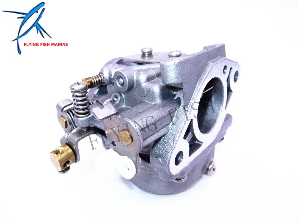 Boat Motor Carburetor 6G1-14301-01 for Yamaha 2-stroke 6hp 8hp outboard motors 6G1-14301 63v 14301 10 outboard carburetor assy for yamaha 9 9hp 15hp 2 stroke outboard engine boat motor aftermarket parts 63v 14301 00