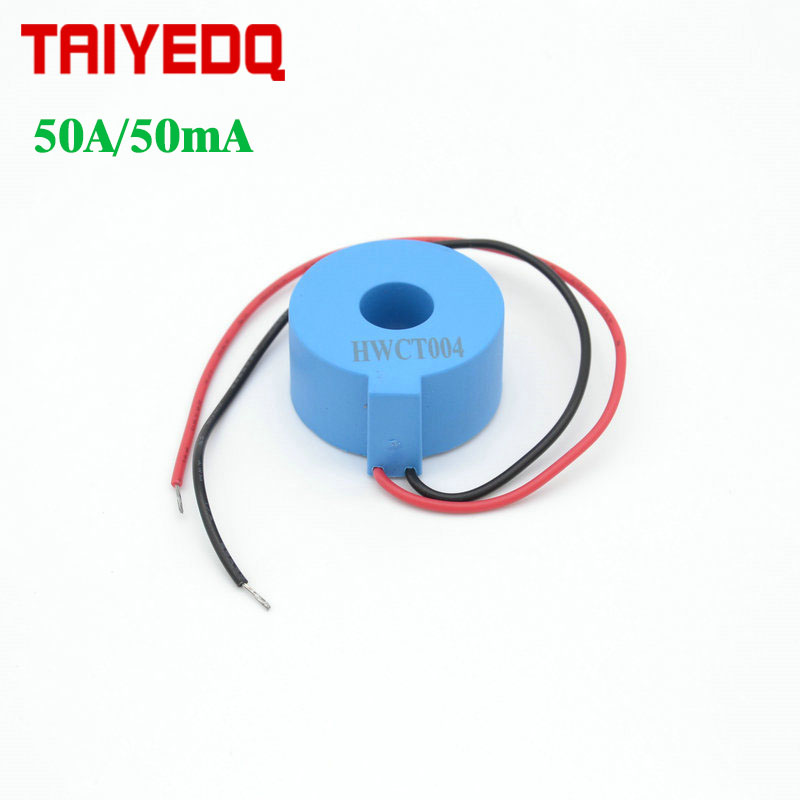 1 шт., прецизионный микротрансформатор тока HWCT004 50 А/50 мА, миниатюрный датчик тока CT