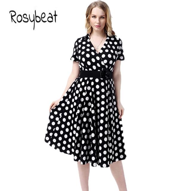 2018 Summer Ladies Fashion Vintage Dress Big Size 5xl 6xl Female