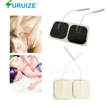 5pair/10pcs White Electrode Pads Electric Tens Acupuncture Digital Therapy Machine for Slimming Electric Body Massager Frequency 10pcs lot gold hand electrode pads for tens acupuncture digital therapy machine jr 309 slimming electric body massager pads