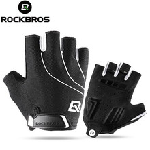 Rockbros Cycling Gloves Thicken Gel Pads Breathable Shockproof Road MTB Bike Gloves Bicycle Sport Riding Gloves