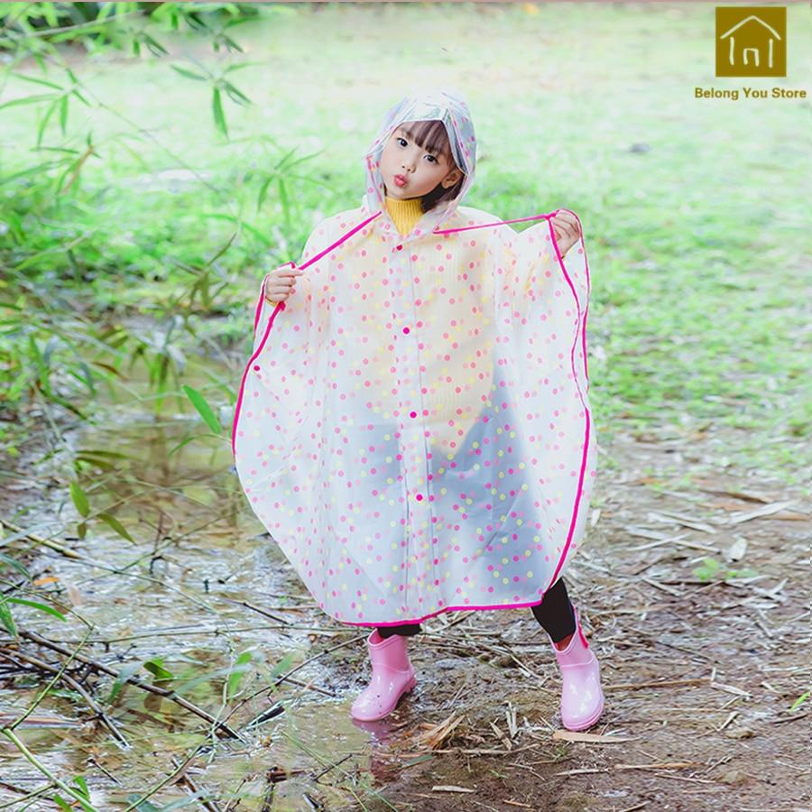 Durable Cute Soft Plastic Children Rain Poncho High Quality Cover Rain Raincoat Oppilaat Waterproof Raincoats Rain Gear LKR064