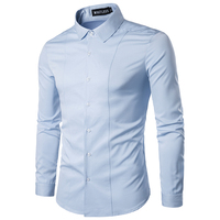 Men Shirt 2017 Brand New Male Dress Shirts Men S Fashion Casual Long Sleeve Mens Shirts