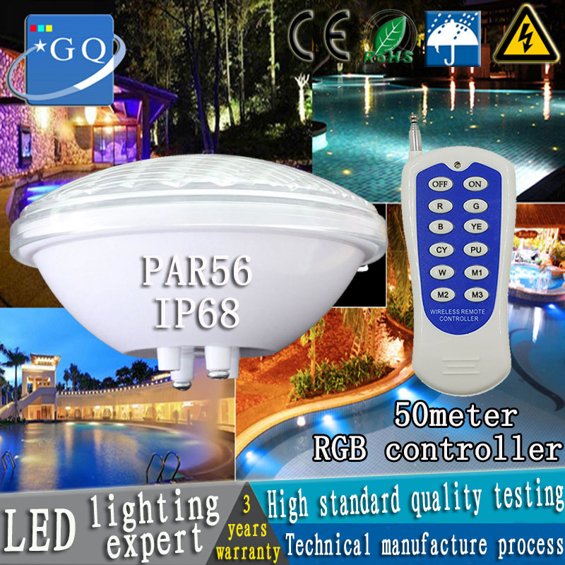 12v par56 LED swimming pool light 24w 36w AC/DC underwater lights fountain pond outdoor waterproof white/warm white/rgb lightin 10w 12v underwater led light 1000lm waterproof ip67 fountain swimming pool lamp lights warm white white flood light lamp