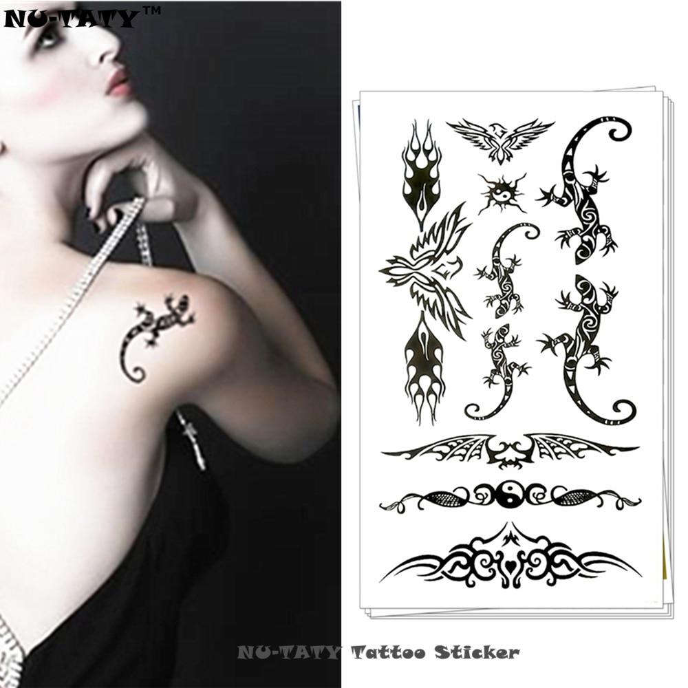 Nu-TATY Lizard bat Temporary Body Art Flash Tattoo Sticker 10*17cm Waterproof Henna Fake Tatoo Car Styling Wall Tattoo Sticker