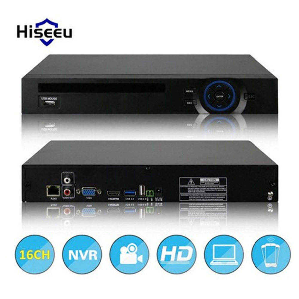 hiseeu 16CH NVR CCTV System 720P 960P 1080P DVR Network Video Recorder H.264 Onvif 2.0 IP Camera 2 SATA P2P Cloud 16 channel new avr tvr cvr dvr nvr 5 in one network recorder 16 channel 1080n h 264 support 3g and wifi for ccty and ip system