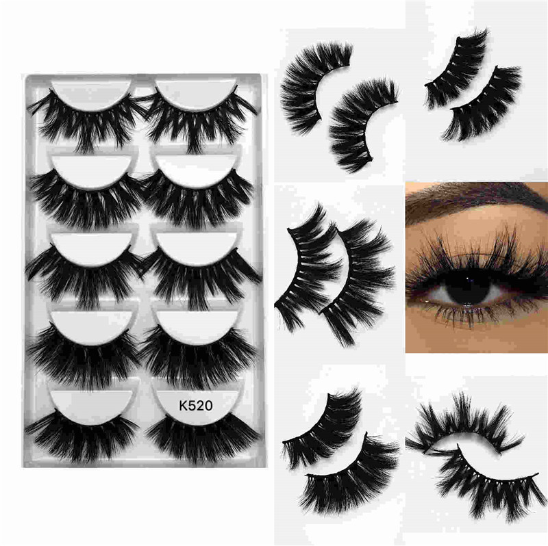 25mm imitation water mane 5 pairs thick thick false eyelashes