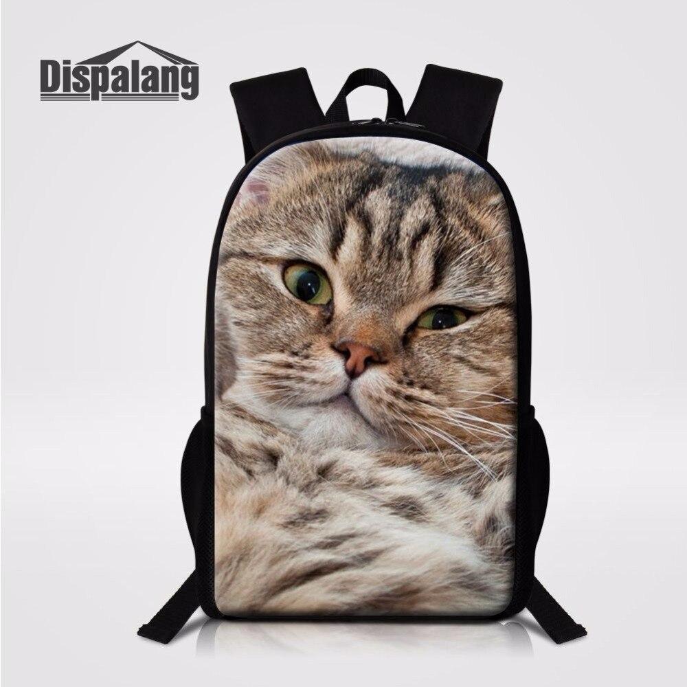 Dispalang Customized School bags Cute Pet Cat Prints Leisure ...