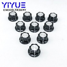 10pcs MF-A02 Potentiometer Knob Cap 6mm Shaft Hole Dia Rotary Switch Bakelite Knob for WHT118 WX050 цены