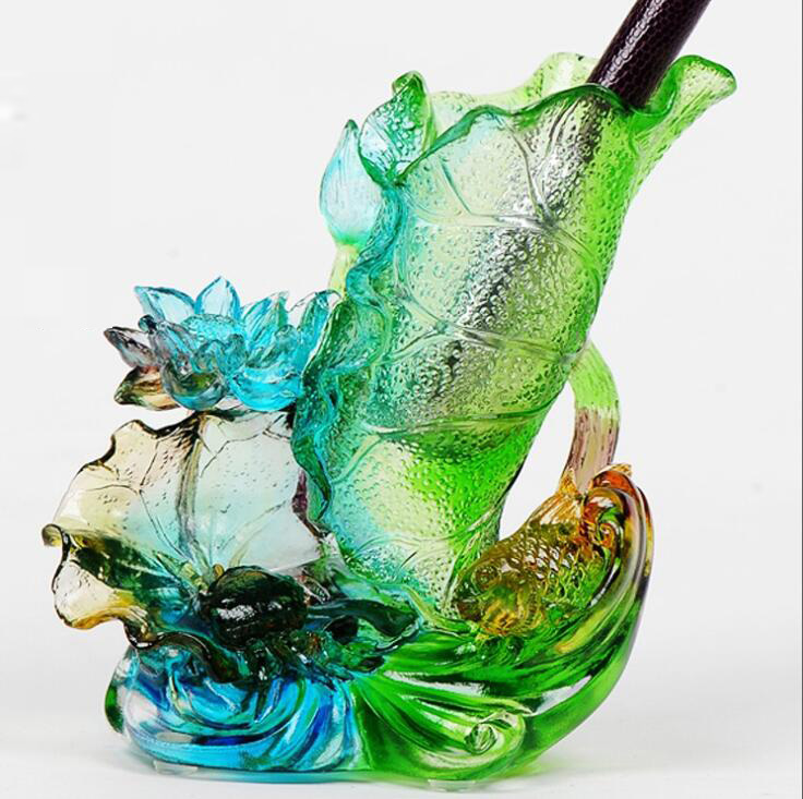 Ancient glass, automotive interior accessories,crafts high end car ornaments, ornaments, gifts, Christmas deer Pendant