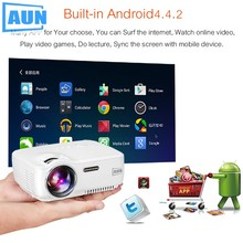 Aun am01s proyector wifi android tv miracast kodi ac3 apoyo full hd 1080 p led proyector de cine en casa mini portátil proyector