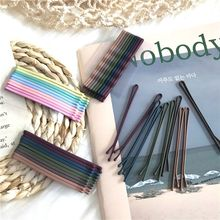 10Pcs/set Sticks Autumn and Winter Chic Retro Versatile Hairpin Hairclip Frosted Paint Bangs Clip Hair Styling Accessories Tools