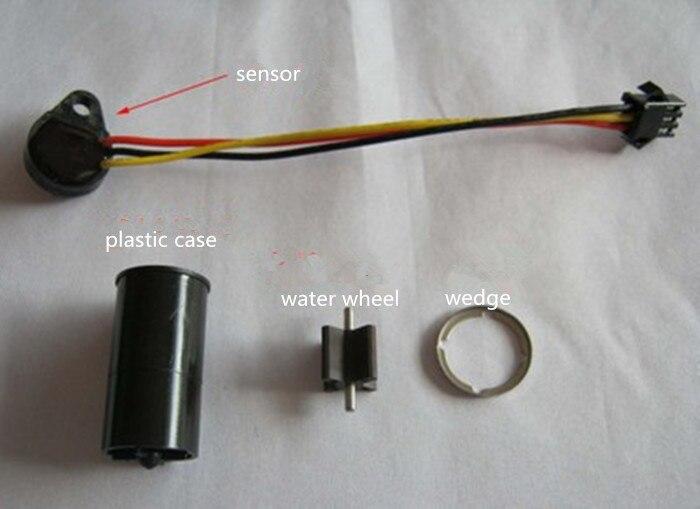 ФОТО Flow meter,flow sensor+plastic case+water wheel+wedge