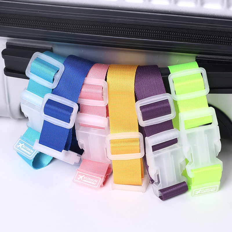 High Quality Adjustable Suitcase Bag Luggage Straps Buckle Baggage Tie Down Belt Lock Hooks Travel Accessories Free Shipping