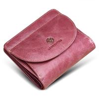 2017 New Purse Lady Short Leather Small Thin Simple Cowhide Female Coin Bag Card Wallet Purses