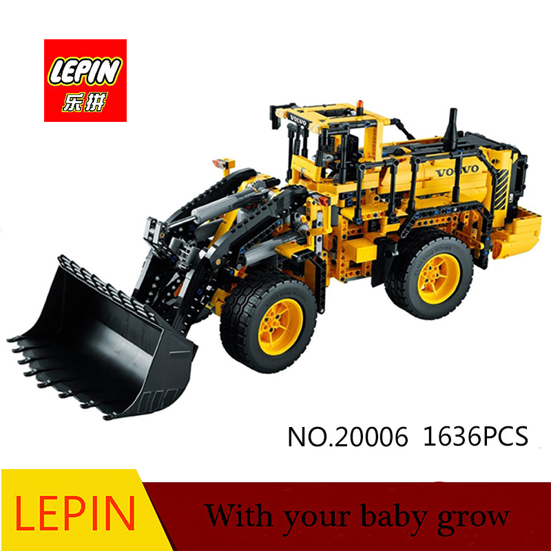 DHL LEPIN 20006 technic series Volvo L350F wheel loader Model Building Kit Blocks Bricks toy Compatible  with 42030 dhl new lepin 06039 1351pcs ninja samurai x desert cave chaos nya lloyd pythor building bricks blocks toys compatible 70596