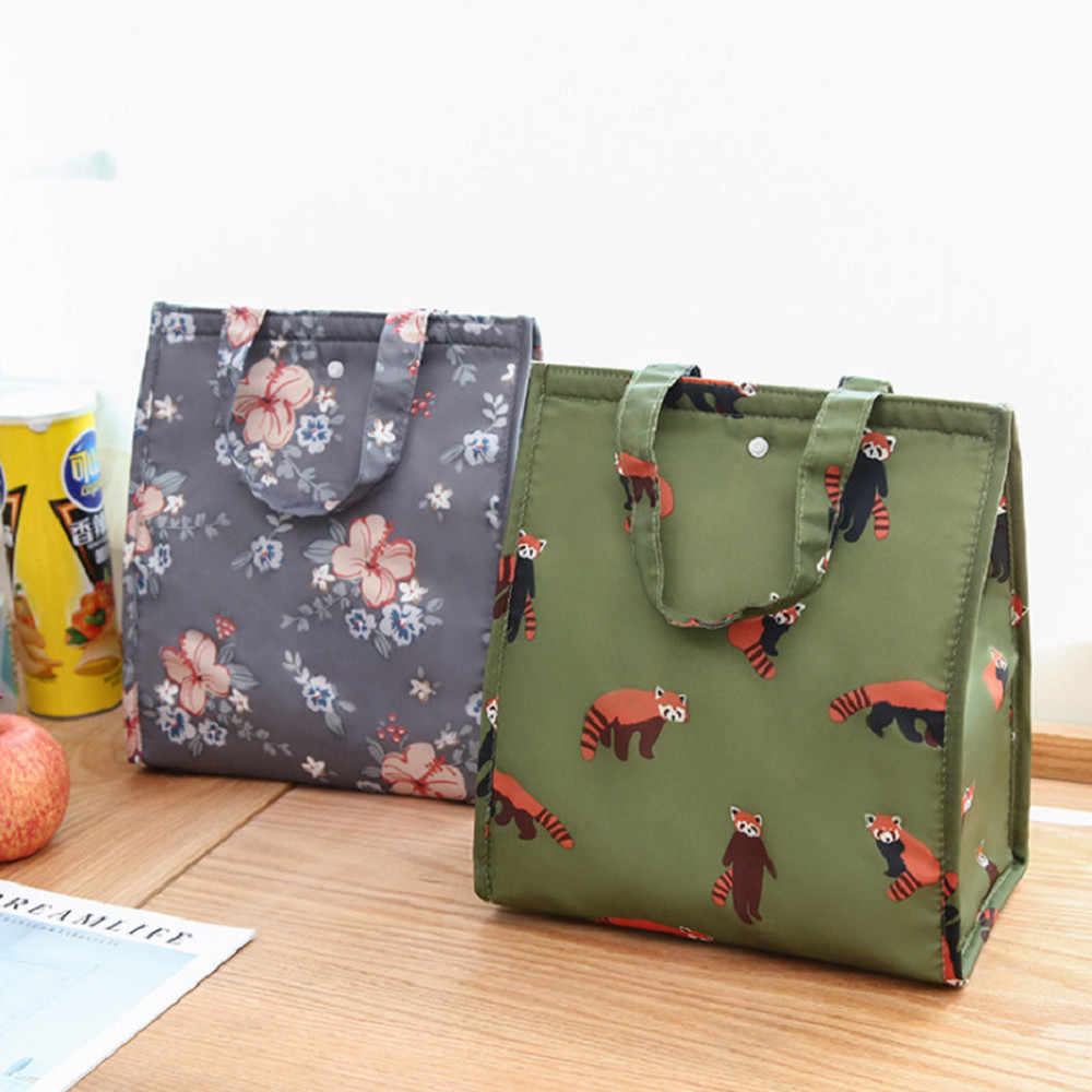 Saco de almoço feminino portátil isolado almoço recipiente moda nova chegada caixa selvagem bolsa de armazenamento fresco bolsa termica *