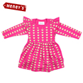 Meney's Baby Bodysuits Dresses for Girls Newborn Full Sleeves Baby Body Infant Pink Clothing Toodler Bebe Jumpsuits Crawling 18M