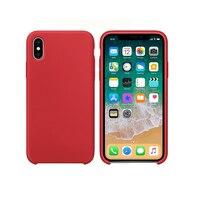Dla iPhone X Case Dziennik Urzędowy Oryginalny Silikonowy Płaska Konstrukcja Lekka Capa Krzemu Pokrywy Telefonu z logo