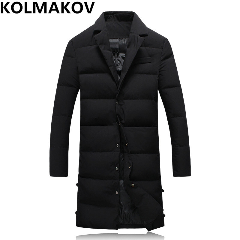 NEW mens   down     coat   winter men parkas   down   jackets slim fit men black long   down     coats   men's parka male dress 2018 full size M-5XL