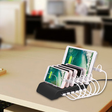 Usb Charging Station,6 port Multiple Charger Station Cell Phone Docking Station for iphone and Other USB Charged Devices