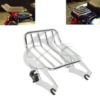 2 Style Detachable Two Up Luggage Rack For Harley Touring Road King FLHR FLHRC FLHX FLTR 2009 2018 Motorcycle