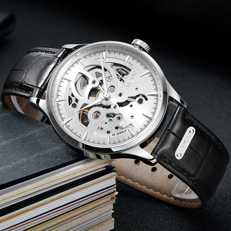 New Luxury Black Men's Skeleton WristWatch Stainless steel Antique Steampunk Automatic Skeleton Mechanical Watches Casual Male mce men wristwatch skeleton clock male leather strap antique steampunk casual automatic skeleton mechanical watches 347