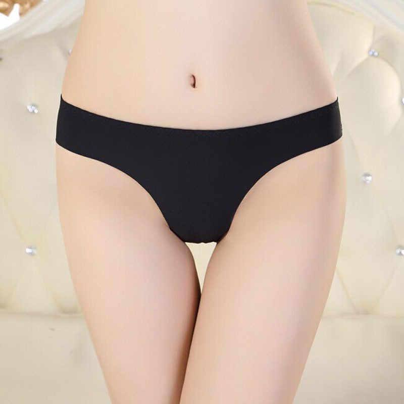 Panas Baju Renang Perban Bikini Wanita Tak Terlihat Pakaian Thong Katun Spandex Gas Mulus Selangkangan Baju Brasil Bikini 21