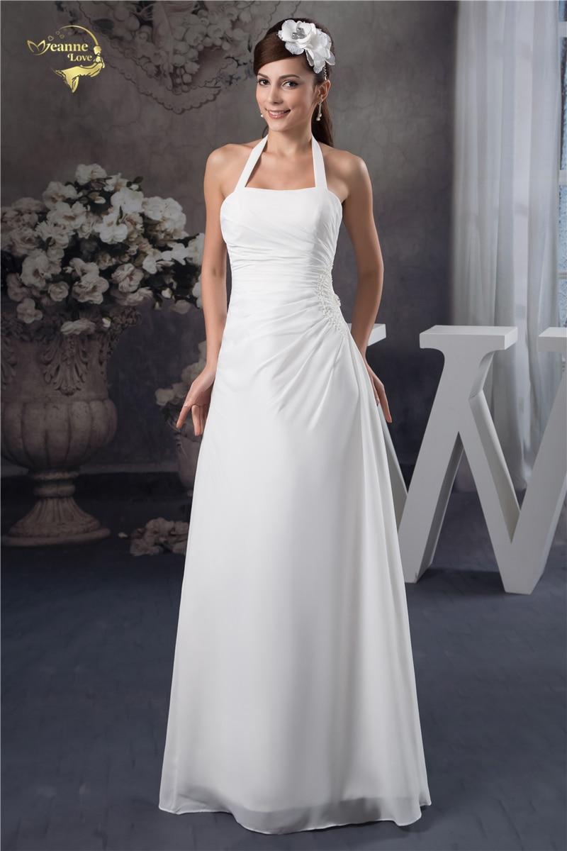 Fashion New Arrival Vestido De Festa Evening Dresses 2019 White Simple  Halter Prom Event Dress Robe 4cf5baab1a17