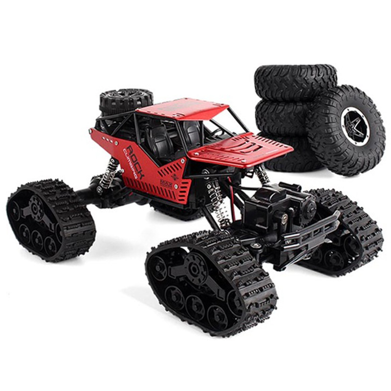 Electric Rc Car Rock Crawler Remote Control Toys Change Track Tire Radio-Controlled Cars Gifts Toys For Boys Rc Crawler Wheel