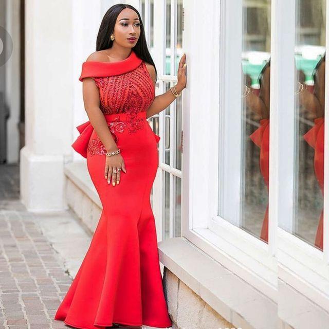 Robes africaines Pour Femmes Offre Spéciale Vente Coton 2018 Nouvelle robe  de soirée sirène Sexy À 2bea6e975e59