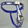 Metal Castidad Masculina Jaula Cinturón de Castidad de Acero Inoxidable Hombres Ropa Esclavo Restraint BDSM Bondage Con Cerradura Del Pene Dispositivo Plug Anal
