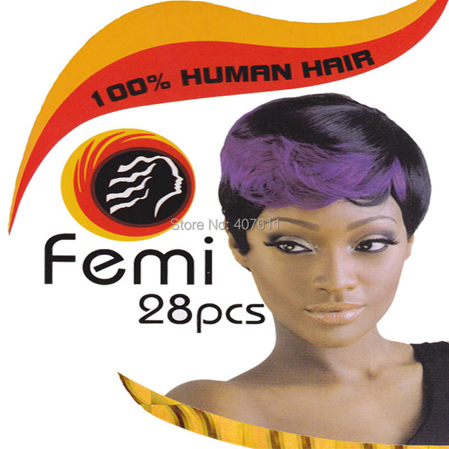 100 Natural Hair Extensions Black Color Femi 28pcs Ture Hair Weave