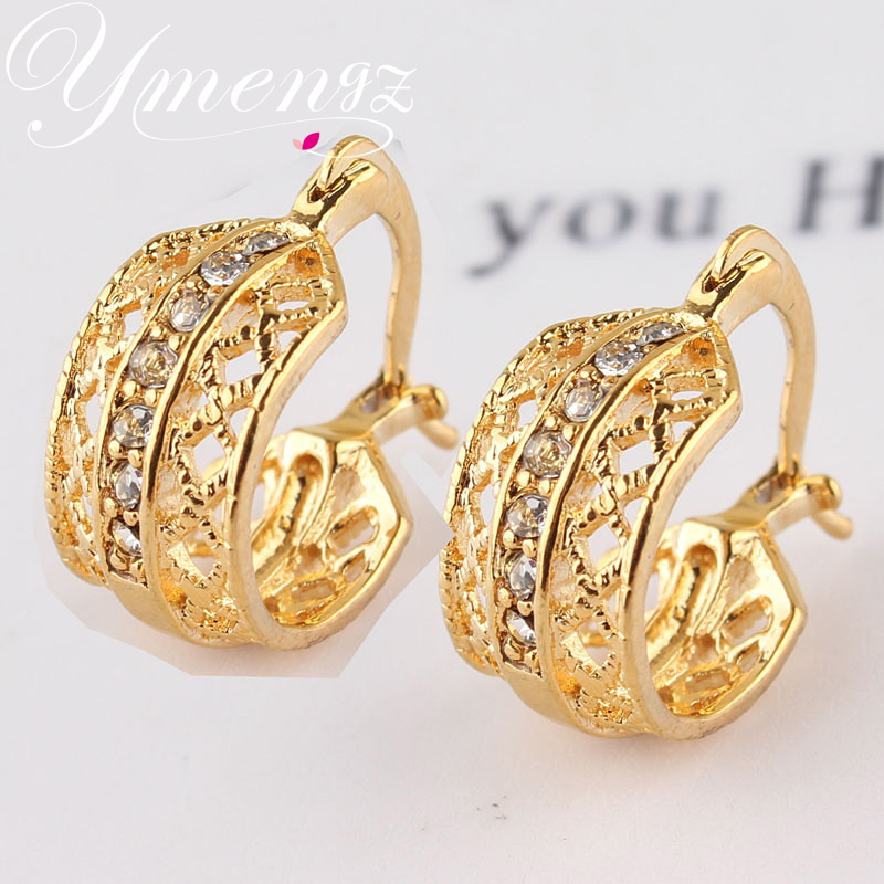 Lastest 2014 New Vintage Clip On Earrings For Women Gold Silver Hollow Out