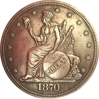 1870 United States $1 Dollar coins COPY FREE SHIPPING Type 2