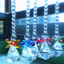 5 шт./лот, Разноцветные Подвески в виде кристаллов, Висячие Подвески в виде капель, люстры, Свадебные/рождественские подарки, украшения для дома