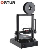 Upgrade Version Ortur 4 3D Printer Large Aluminum Frame HotBed Auto Leveling Printing Machine Linear Guide Rail 3D Printer Kit