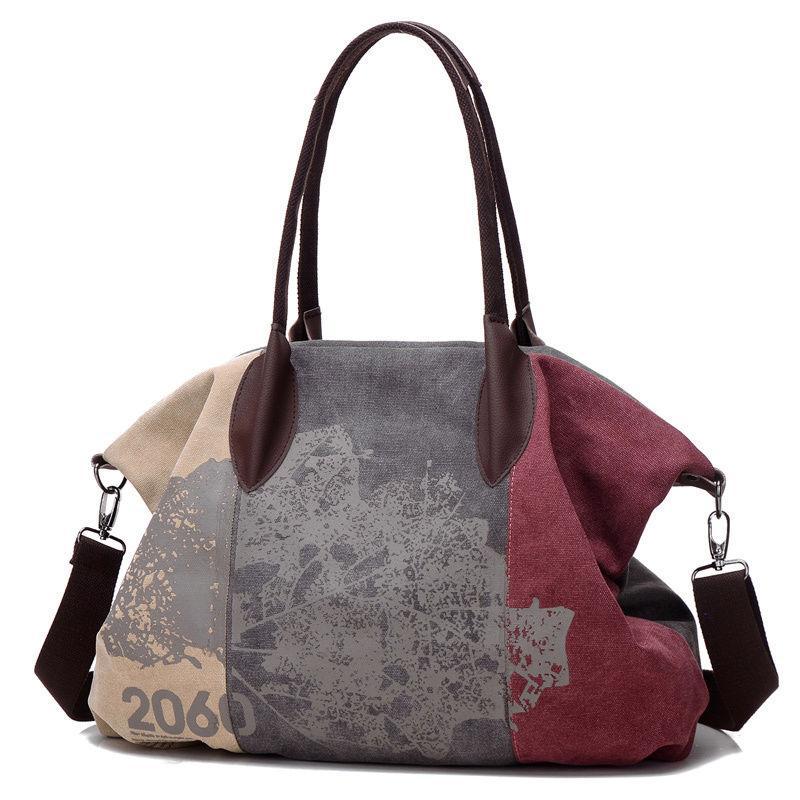7e5c2c486f Vintage Canvas Handbag Women Messenger Shoulder Bags Big Casual Tote  Handbags Hobo Bag Luxury Handbags Red Handbags From Wearbag