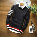 New Arrival Pullover Men Round Neck hot sell Brand Clothing Skinny Style Men Sweater Cotton Slim Fit Pull Homme Sweater Men