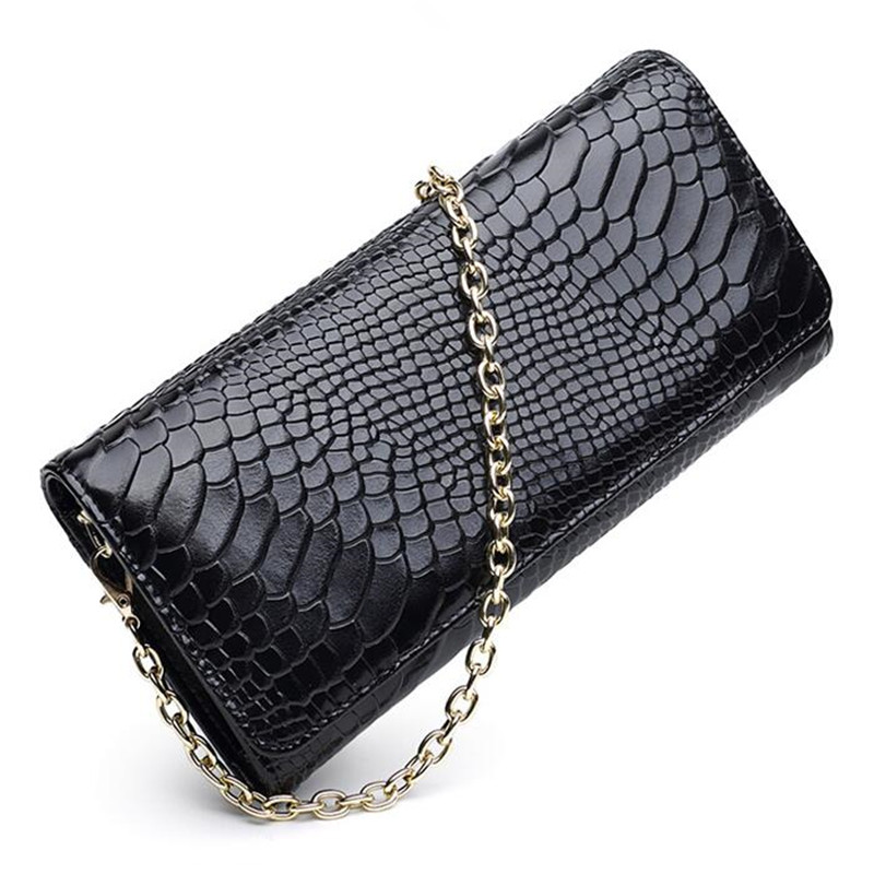 Female Chain Handbag Cow Split Leather Vintage Bags Women Shoulder Bags Serpentine Small Messenger Bag Crossbody Envelope Bags lacattura small bag women messenger bags split leather handbag lady tassels chain shoulder bag crossbody for girls summer colors