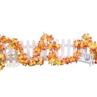 Practical Artificial flowers azaleas flower garland garland Ivy Orange