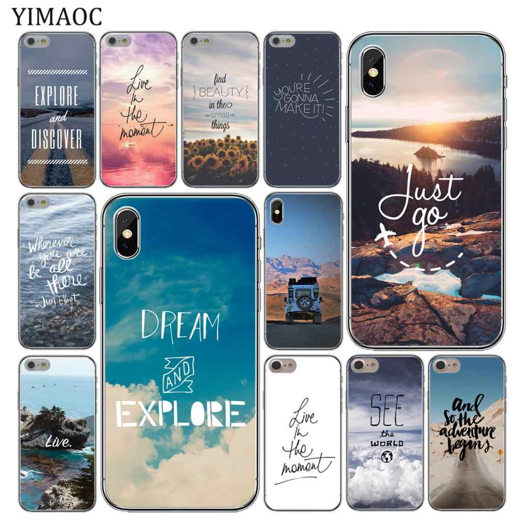 949a4709d4 YIMAOC Scenary Travel Breathe On The Way Soft Silicone Cover Case for iPhone  XS Max XR
