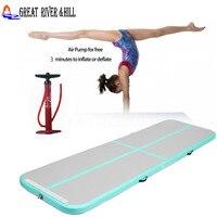 Grote Rivier Hill Opblaasbare airtrack airfloor voor kinderen gymnastiek tumbling met size: 3 m x 1 m x 10 cm