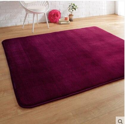 Kingart Big Wine Red Soft Living Room Carpet Thick Floor Blanket Yoga Mat Bedroom Fur Rug