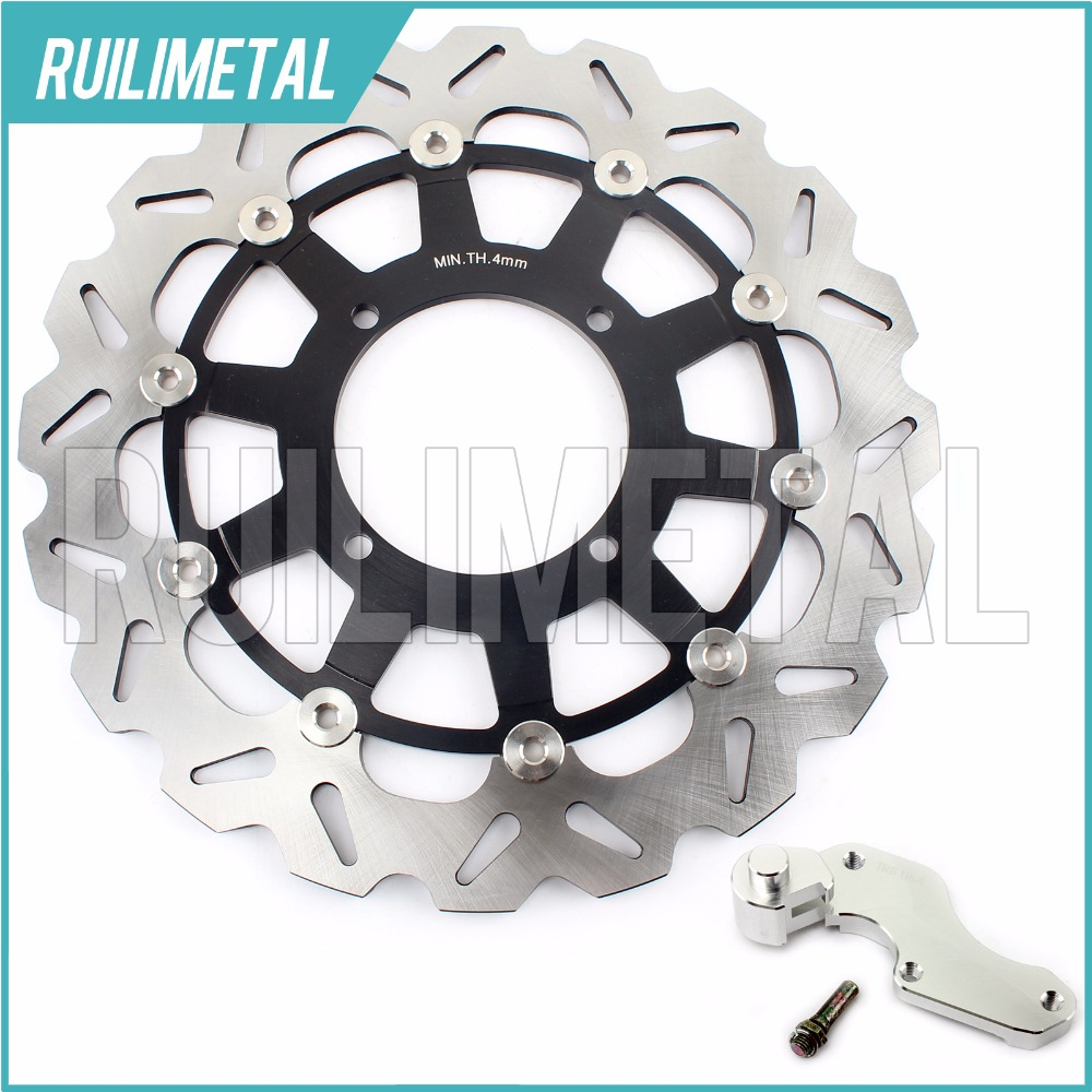 320mm oversize Front Brake Disc Rotor Bracket Adaptor for KAWASAKI KX 125 250 F KLX 250 R 300 500 650 97 98 99 00 01 02 03