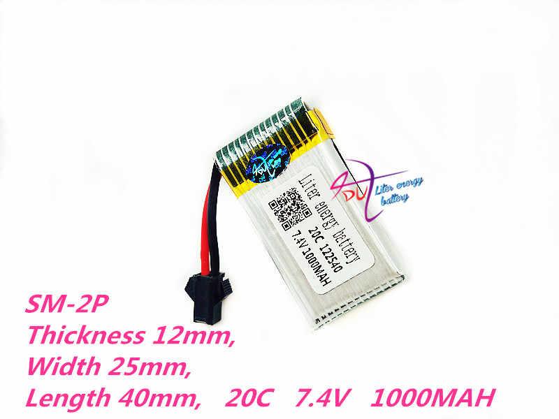 122540 7,4 V 1000 mAh литий-полимерный Батарея для difeida DFD F182 F183 H8C H8D Квадрокоптер 7,4 V 1000 mAh литий-полимерный Батарея 2 S 602540*2