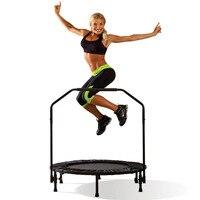 Крытый профессиональный фитнес детский батут для взрослых с поручнем из нержавеющей стали и PP чистая Складная Максимальная нагрузка: 150 кг