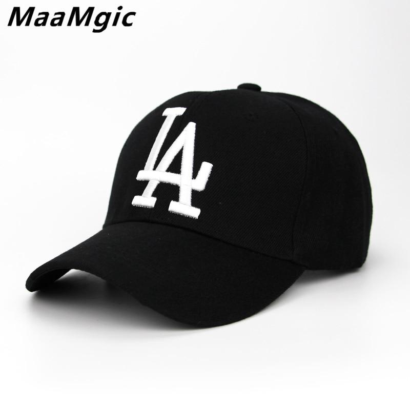 2018 New letter Baseball Caps LA Dodgers Embroidery Hip Hop bone Snapback Hats for Men Women Adjustable Gorras Casquette Unisex