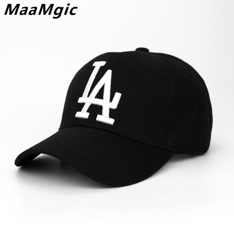 2018 neue brief Baseball-kappen LA Dodgers Stickerei Hip Hop knochen Hysteresenhüte für Männer Frauen Einstellbar Gorras Casquette Unisex