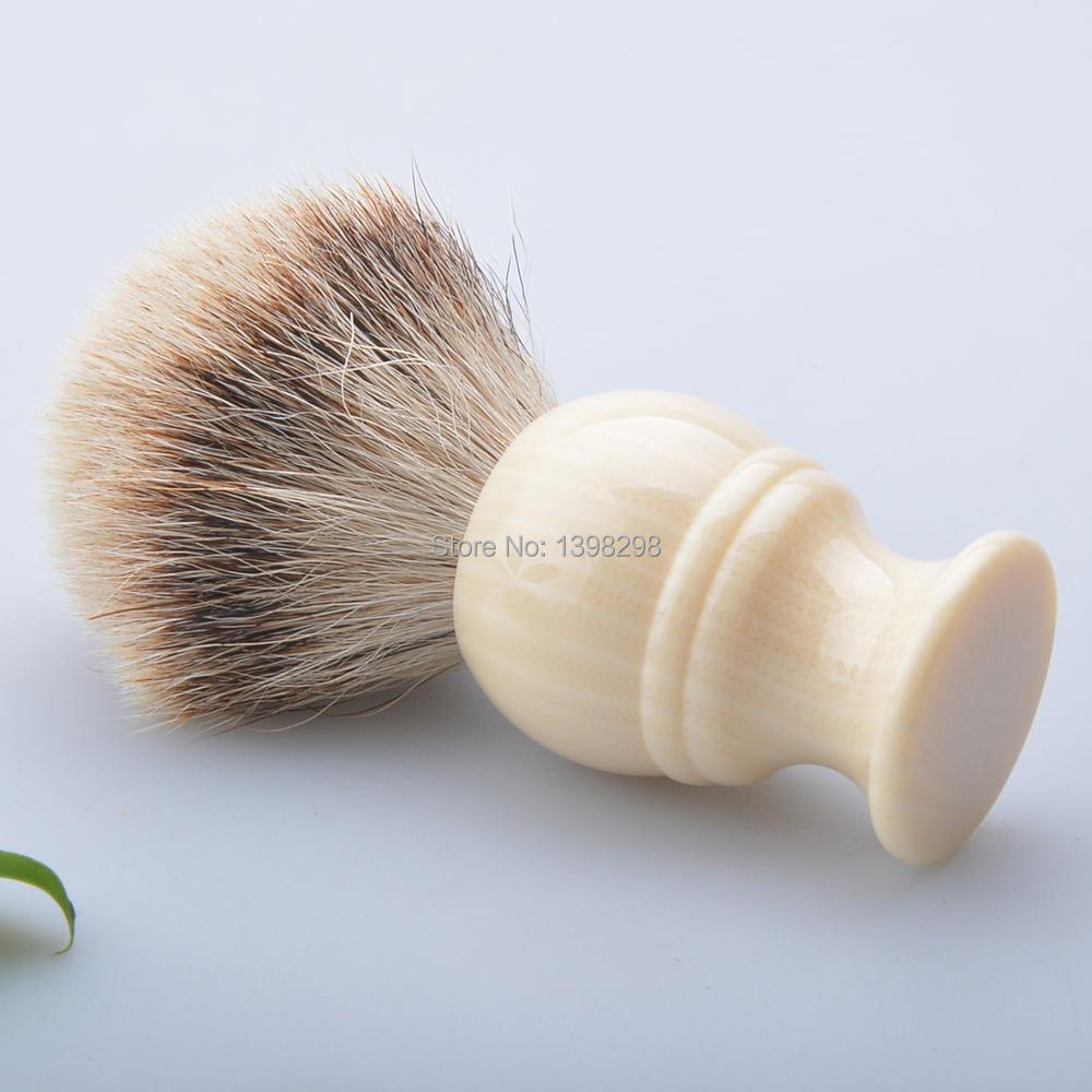 CSB faux ivory handle silvertip badger hair shaving brush men's beard shave tools